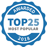 Top 25 Most Popular Party and Event Services badge for 2018